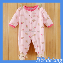 HOGIFT 2016 spring Baby Coverall, include Foot Cotton Romper climbing clothes