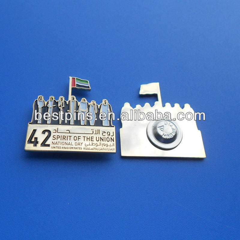 latest UAE national day badge/lapel pin for festival souvenir
