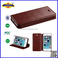 2014 Hot Sale PU Flip Leather Case Cover for Apple iPhones