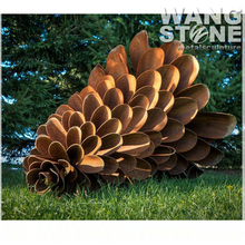 Corten Steel Rusty Metal Garden Art Giant Pine Cone Sculpture
