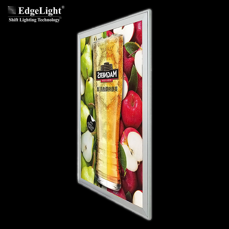 8mm thcinkess super slim aluminum profile lightbox poster for indoor <strong>advertising</strong>