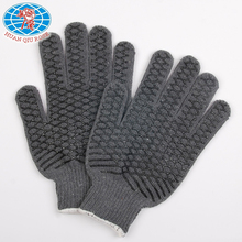 7G grey color glove with netty PVC on palm