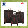 Nylon Fabric PU Sole Design Brown Luggage Decent Travel Luggage