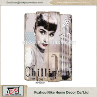 Audrey Hepburn crafts home decoration , wall decor wall art craft MDF wall hanging
