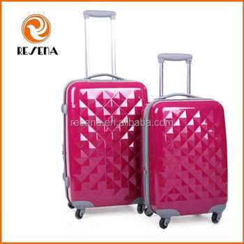 Fashion design various color ABS and PC trolley luggage