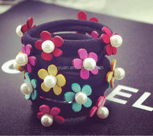 Candy color flower Children's pearl hair bands