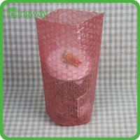 anti-static red bubble bag,hdpe air bubble packaging bag,plastic protection bag