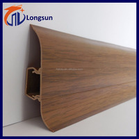 Wood texture mdf floor PVC skirting board from Huangshan Longsun