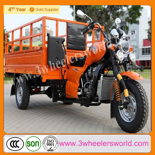 China Supplier 3 Wheel Trike Motorcycle Roof with Power Rear Axle /Cargo Electric Tricycle for Sale