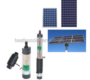 High efficiency stainless steel high-lift DC Solar Pump For Deep Well and irrigating and water supply