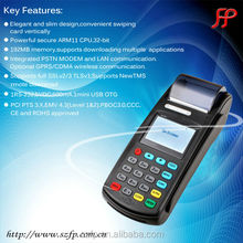 New 8110 GPRS pos terminal Portable Ticket Validator with Barcode Scanner and RFID Reader