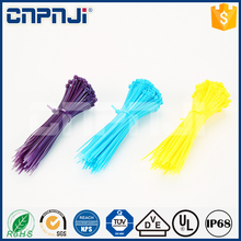 Nylon cable tie made in china apply to Architecture electrical white black yellow cable tie colored