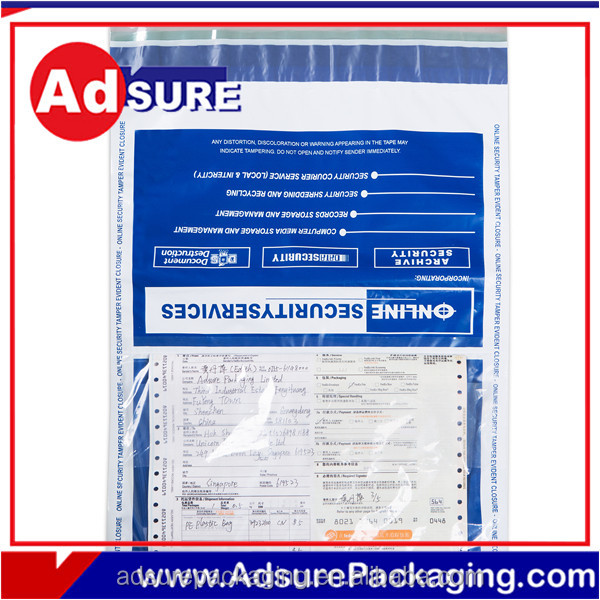 Security Tamper Evident Packaging Bag/Transparency Adhesive Tape With Number/Tamper Proof Cash Bag