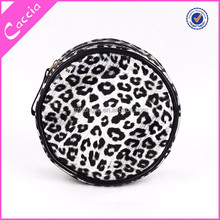 Guangzhou wholesale pvc cosmetic bag funnny clutch bag unique design round pouch bag