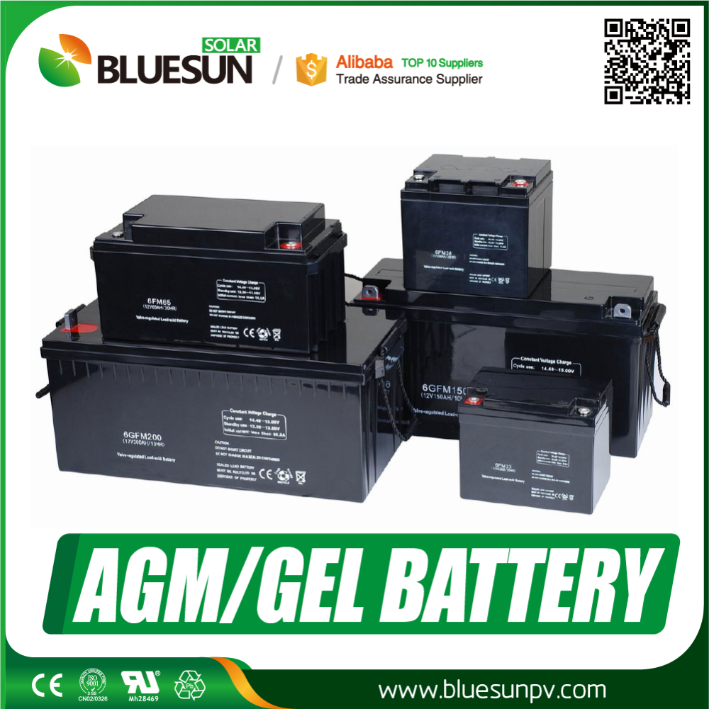 Bluesun deep cycle 12V 200ah AGM storage <strong>batteries</strong> for solar system
