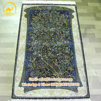 400Lines Fantastic Art Collection Natural Silk Tree of Life Carpet Persian Tapestry Rug