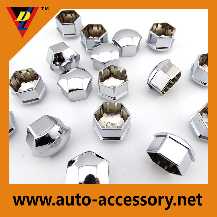 Chrome ABS 17mm 19mm car wheel hub cap covers for volvo spare parts
