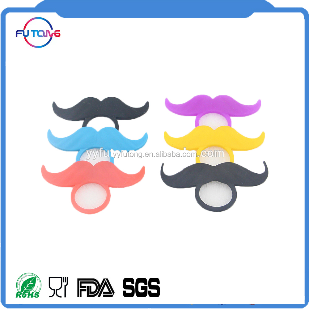 Silicone Mustaches Party Ring Bottle Ring Gift