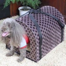 Good feature hot selling two uses cambered apex roof dog cage kennel house crate with hard board
