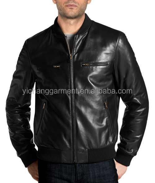 Elegant Leather Bomber For Men Advanced And Well-Groomed Look