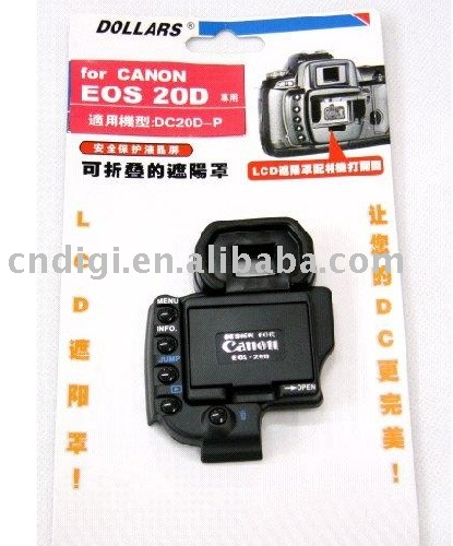 Digital Camera LCD screen sunshade hood for Canon EOS 20D