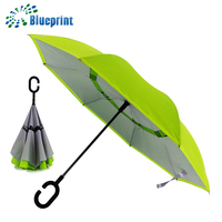 Hot Sale Double Layers With Net Inside Inverted Automatic Open Reverse Umbrella