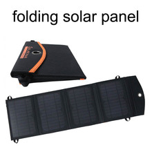 waterproof foldable solar charger 14w foldable solar panel power for mobile phone