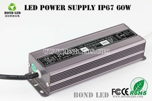 High PFC waterproof IP67 60W 100W CE approval LED driver 12V constant current 5a led power supply