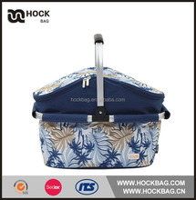 Wholesale can wine food lunch bag large fashion basket insulated cooler bag