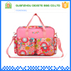 Polyester multifunction tote floral fashion baby diaper bag