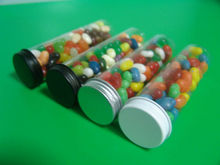Clear Plastic Cylinder with screw plug