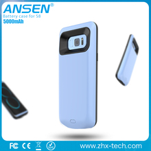 2017 New arrival slim battery case with date, mic,listening the music external power case for samsung S8