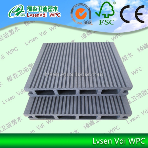 Dcking Board WPC/ 150*25mm New Water proof,high density wood plastic composite/wpc flooring,deck wpc board