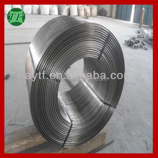 Best Quality Metal <strong>Alloys</strong> Powder Titanium Cored Wire China Exporter