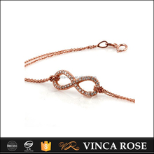 High quality new 18k gold bracelet bowknot models infinity bracelet for women