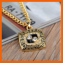 LT JEWELRY 1992 NHL PITTSBURGH PENGUINS NECKLACE REPLICA ICE HOCKEY STANLEY CUP CHAMPIONSHIP NECKLACE