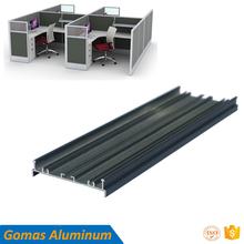 Powder coating office furniture aluminum profiles for office glass partition desk edge