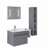 China Manufacturer Wash Basin PVC 24 inch Vanity Bathroom Cabinet With Mirror