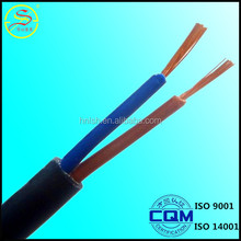 high quality 60227 IEC 53 Copper Conductor PVC Insulated Flexible wire RVV electric cable 2x1.5mm2
