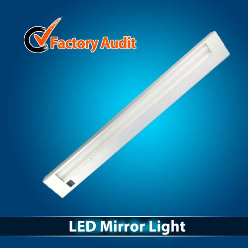 Toilet Glass Front Mirror LED Light Bar Sensor function