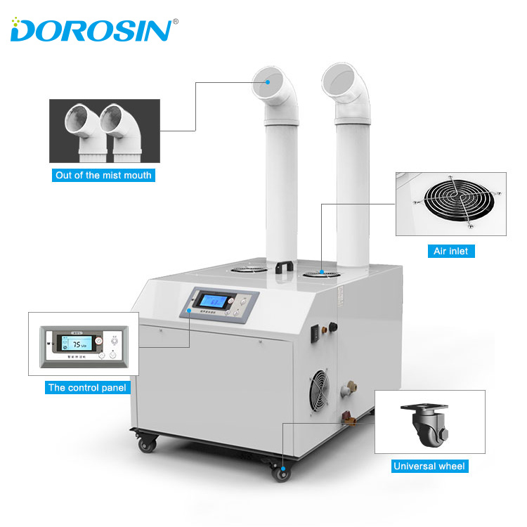 Dorosin 9KG/H commercial portable Plant breeding ultrasonic humidifier with humidity sensor