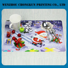 custom printed christmas pp plastic placemat/ table mat
