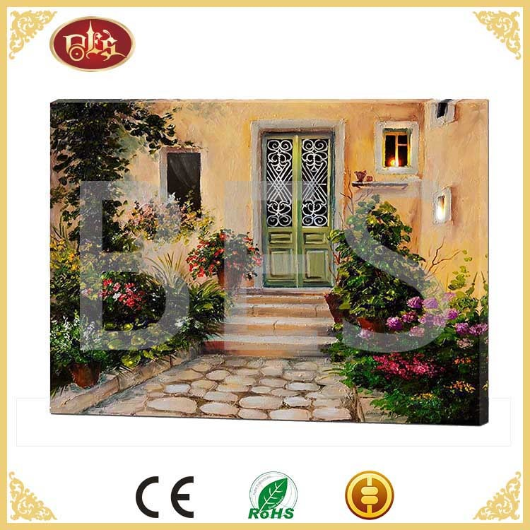 garden flower canvas art , garden led picture ,garden painting