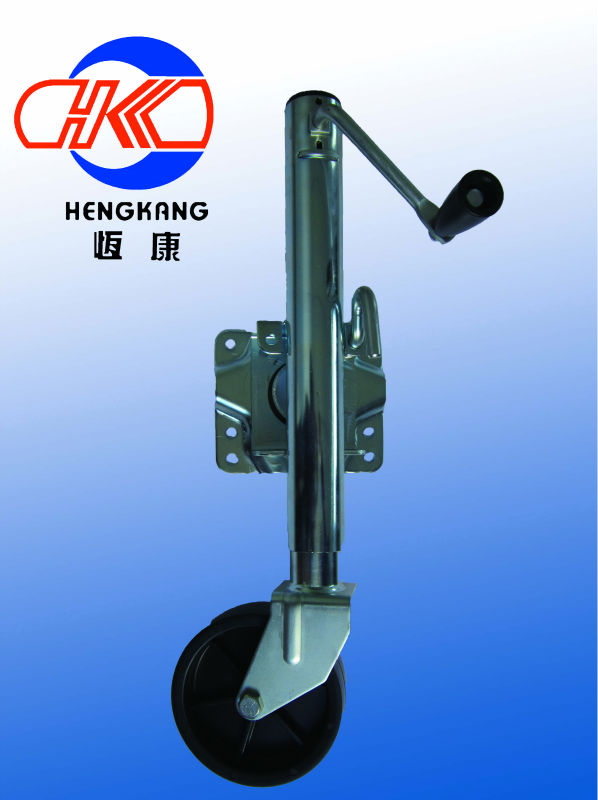 OEM cheap good quality china 1000lbs side wind swivel plate side lift trailer jack with rubber wheel