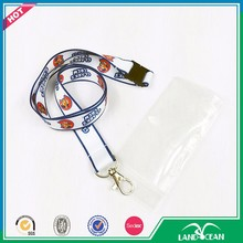 Custom white lanyard and vertical badge id card holder