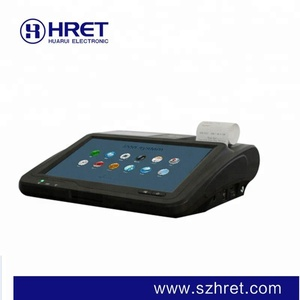 Touch screen system lottery 3G NFC QR android pos terminal with printer