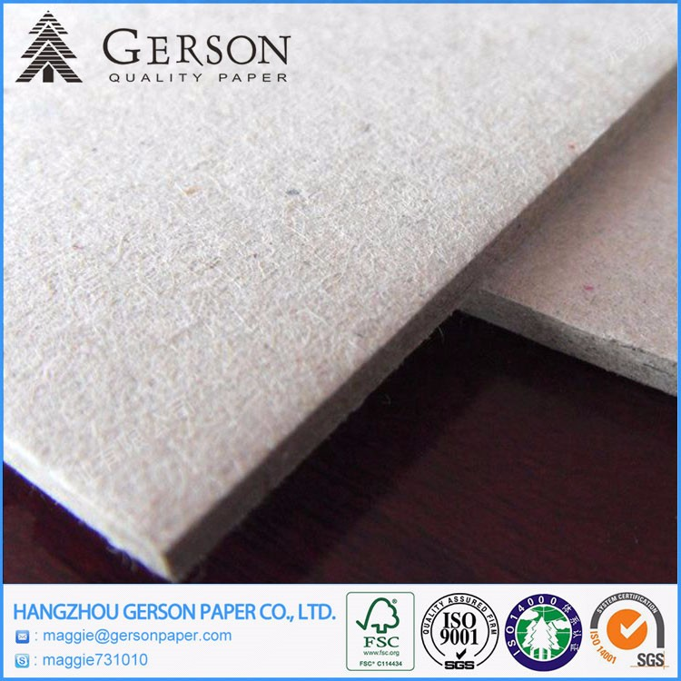 Wholesale Manufacture Single Ply Grey Cardboard / Single Ply Grey Paperboard