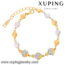 Top Design Crystal Jewelries Fashion Cute Fish Gold Bracelet
