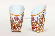 Packaging disposable french fries box with custom design