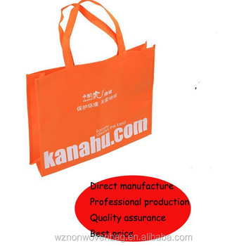 2016 Customized promotional printed recycle non woven bag